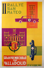 I del Palacio - Original Mid-Century Modern Poster For The Rallye De San  Mateo