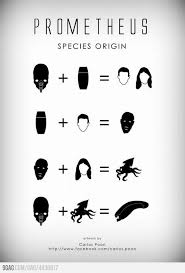 Chart Illustrates How The Alien Species Of Prometheus Are Created ...