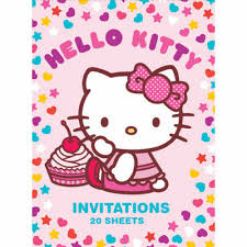Hello Kitty Party Invitation Art Wrap Hello Kitty Party Invitations 20 Sheets Great For Birthdays And Fun