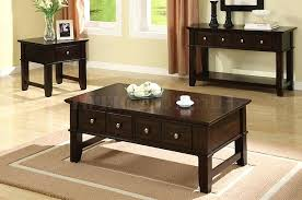 coffee table black and end sets dark espresso finish console furniture of america architectural inspired