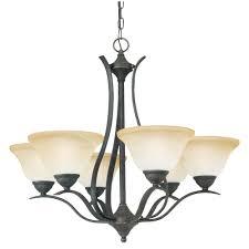 hampton bay alta loma 6 light bronze dark ridge chandelier 27055