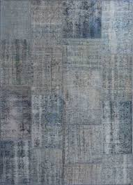 rugsville vintage turkish overdyed patchwork cool blue rug 10x14 contemporary area rugs by rugsville