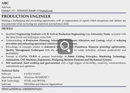 fresher production engineer - Manufacturing Engineer Resume