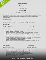 Template Dental Assistant Resume Sample Monster Com Dentist Temp