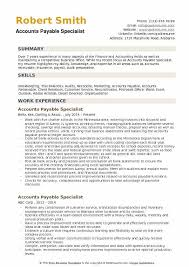 Accounts Payable Resume Summary Accounts Payable Specialist Resume Samples Qwikresume