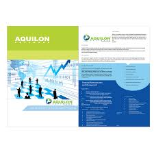Print Design Contests » Aquilon Software Brochure » Design No. 21 By ...
