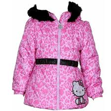hello kitty infant toddler girl s puffer fleece lined winter jacket fashion baby infant