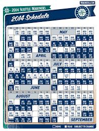 Mariners Schedule