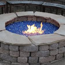 exotic fire glass. Exellent Glass Outdoor Fire Pit  Cobalt Blue Reflective Glass  Inch Throughout Exotic M