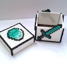 17 best images about minecraft toys and accessories diamond sword minecraft keepsake box perler beads by gamingbeads
