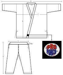 Karate Uniform Size Chart Proforce 10 Oz Instructor Karate Uniform Elastic Drawstring