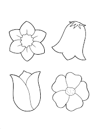 Spring Flower Coloring Pages Flowers Coloring Sheet Templates