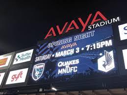 Unless otherwise noted, all times in pst. San Jose Earthquakes Avaya Stadium Avaya Case Study