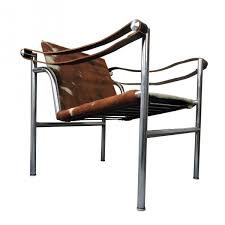 mid century italian cowhide chair by le corbusier for cassina