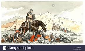 Rodrigo Díaz de Vivar, El Cid Campeador (1043-1099). Acuarela para la obra  el poema del Cid. Años 1930 Stockfotografie - Alamy