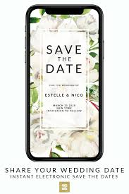 Save The Date Electronic Save The Date Digital Save The