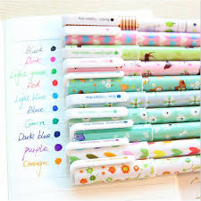 10Pcs/lot <b>Kawaii</b> Cartoon Colorful <b>Gel Pen</b> Set Korean Stationery ...