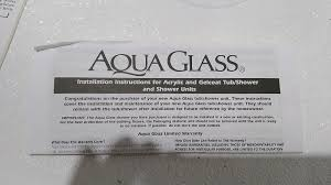 313232d aqua glass aquaglass 1 pc acrylic white shower stall built in 75x28x28