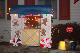 decor outdoor gingerbread house decorations modern on cool
