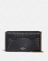 CALLIE FOLDOVER CHAIN CLUTCH WITH DECO QUILTING ...
