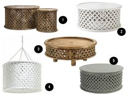 Round lattice carved wood coffee table. Obsessed With Bamileke Tables Self Styled