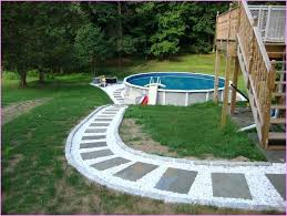 Above Ground Swimming Pool Landscaping Ideas Popular Small Front