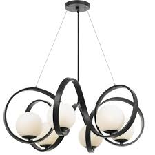 crystorama arlo 6 light matte black chandelier