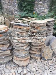 china multicolor slate stepping stones rusty slate round garden pavers natural stone pavement for
