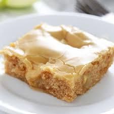 Salted Caramel Apple Sheet Cake Square