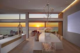 luxurious beach house interior as a perfect living space modern dining room with modern sofa