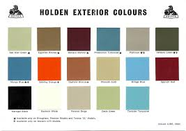 1968 73 Holden And Torana Paint Charts Paint Panel Gmh