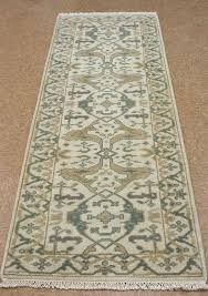 3 x 8 rugs 3 x 8 style hand knotted wool ivory blue beige new runner