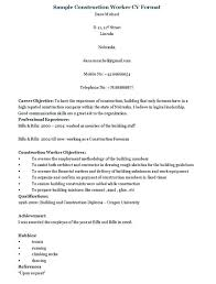 Construction Worker Resume Amazing 1021 Construction Manager Resume Examples Objective For Resume Project