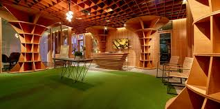 raw office. Parabolic Plywood Office | RAW Architecture Raw