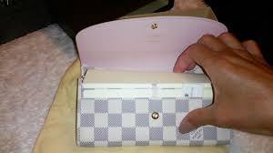 louis vuitton emilie wallet. ♥♥♥newest louis vuitton damier azur emilie wallet in rose ballerine♥♥♥ - youtube