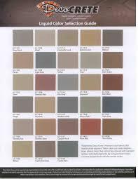 Color Charts Deco Crete Supply