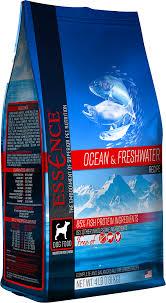 Zignature Feeding Chart Essence Ocean Freshwater Formula Dry Dog Food