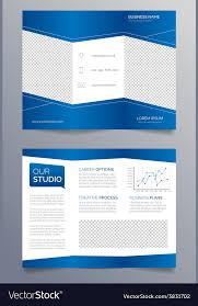 tri fold brochures business trifold brochure template modern blue vector image