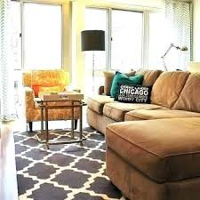 surprising area rug with brown couch architecture