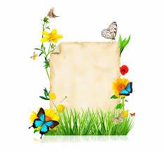 Paper With Flower Border Parchemins School Border Borders For Paper Flower With