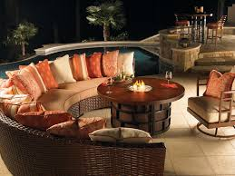 pool patio furniture with fire pit
