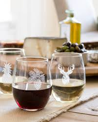 Stemless Etched Wine Glasses - Pineapple Main