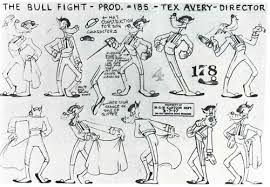 The Art Of Animation, Tex Avery: The Bull Fight, Model Sheet   Animation  sketches, Tex avery, Character model sheet