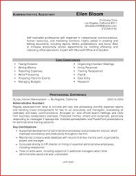 New Administrative Support Resume Sample Npfg Online