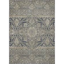 concord global trading new casa aubosson blue 3 ft x 4 ft area rug