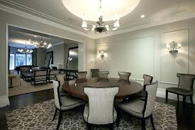kitchen table chandelier expandable round dining table room contemporary with area rug chandelier shades crown molding