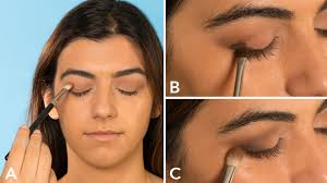 first apply eyeshadow primer this silky base makes your eyeshadow stay put and eliminates creasing you can apply it lightly with a finger like you would