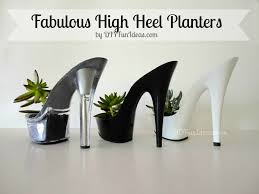 sophisticated broad diy high heel planters succulents