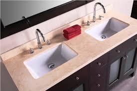 undermount bathroom double sink. Bathroom Sink Rectangular Sinks Undermount For Intended Vanity Idea 5 Double 2