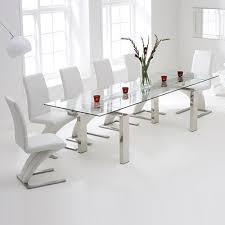 harveys dining room table chairs. lunar glass extending dining table with 8 harvey white chairs-7734 harveys room chairs b